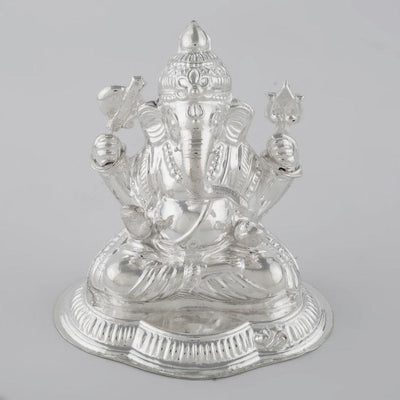 Silver small Ganesh idol Silver Article - By Unniyarcha - Original Manufacturers of Silver Jewelry, Gold Plated Jewellery, Fashion Jewellery and Personalized Soul Bands and Personalized Jewelry