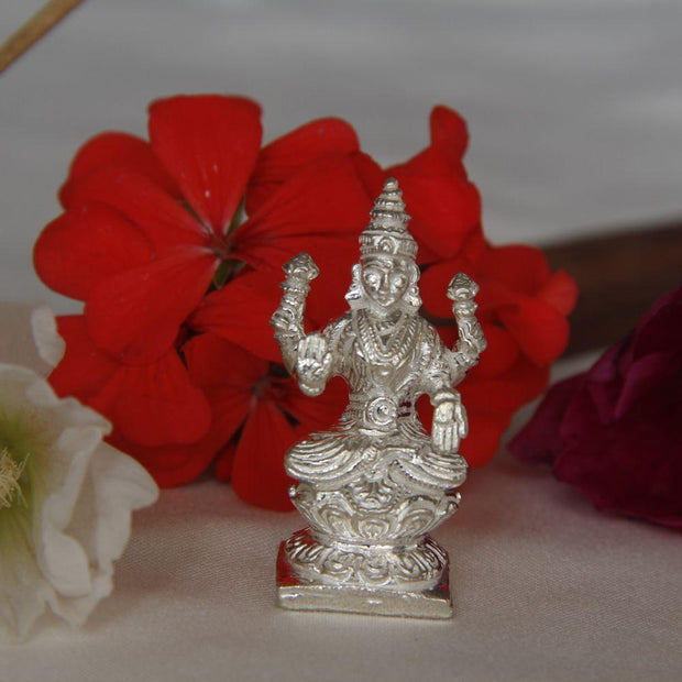 Silver Solid Lakshmi Idol Silver Article - By Unniyarcha - Original Manufacturers of Silver Jewelry, Gold Plated Jewellery, Fashion Jewellery and Personalized Soul Bands and Personalized Jewelry
