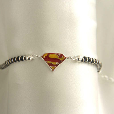 Silver Superhero Nazariya Baby jewelry - By Unniyarcha - Original Manufacturers of Silver Jewelry, Gold Plated Jewellery, Fashion Jewellery and Personalized Soul Bands and Personalized Jewelry