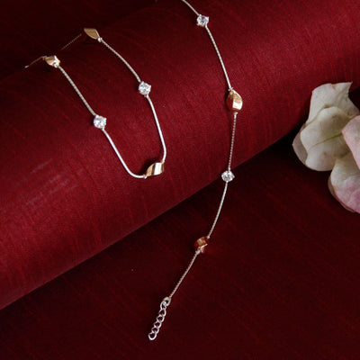 Silver Two Tone Twist Anklet Anklets - By Unniyarcha - Original Manufacturers of Silver Jewelry, Gold Plated Jewellery, Fashion Jewellery and Personalized Soul Bands and Personalized Jewelry
