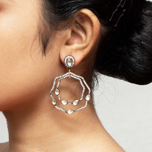 Silver Zircon Earring - By Unniyarcha - Original Manufacturers of Silver Jewelry, Gold Plated Jewellery, Fashion Jewellery and Personalized Soul Bands and Personalized Jewelry