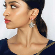 Silver Zircon Stone Earring - By Unniyarcha - Original Manufacturers of Silver Jewelry, Gold Plated Jewellery, Fashion Jewellery and Personalized Soul Bands and Personalized Jewelry