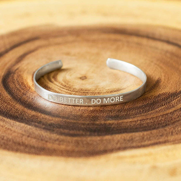 Soul Band - Do Better Do More - By Unniyarcha - Original Manufacturers of Silver Jewelry, Gold Plated Jewellery, Fashion Jewellery and Personalized Soul Bands and Personalized Jewelry