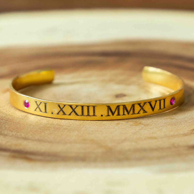 Soul Bands - Roman Numerals - By Unniyarcha - Original Manufacturers of Silver Jewelry, Gold Plated Jewellery, Fashion Jewellery and Personalized Soul Bands and Personalized Jewelry