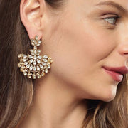 Unniyarcha Gold plated pure 92.5 silver chandbali earrings Earrings - By Unniyarcha - Original Manufacturers of Silver Jewelry, Gold Plated Jewellery, Fashion Jewellery and Personalized Soul Bands and Personalized Jewelry