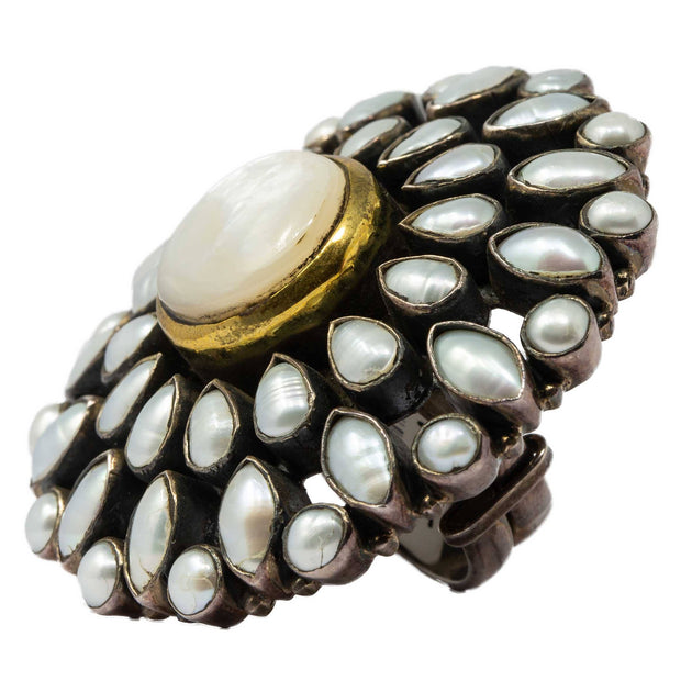 White Pearls Ring - By Unniyarcha - Original Manufacturers of Silver Jewelry, Gold Plated Jewellery, Fashion Jewellery and Personalized Soul Bands and Personalized Jewelry