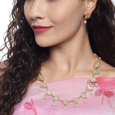 Zircon Silver 92.5 Necklace Set Necklaces - By Unniyarcha - Original Manufacturers of Silver Jewelry, Gold Plated Jewellery, Fashion Jewellery and Personalized Soul Bands and Personalized Jewelry