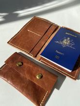Load image into Gallery viewer, Leather Passport Carrier - Houseofsamdesigns