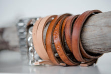 Load image into Gallery viewer, SHE BELIEVED SHE COULD AND SO SHE DID' Personalised leather bracelet - Houseofsamdesigns
