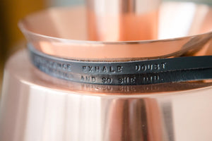 'INHALE CONFIDENCE EXHALE DOUBT' Personalised leather bracelet - Houseofsamdesigns