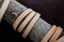 Load image into Gallery viewer, 'WHEN EVERYTHING IS UNCERTAIN....' Personalised leather bracelet