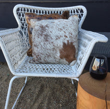 Load image into Gallery viewer, Cow hide leather cushion - Houseofsamdesigns