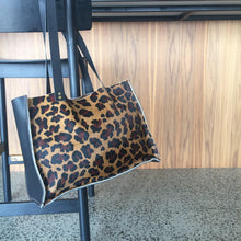 Load image into Gallery viewer, Leopard print leather tote - Houseofsamdesigns