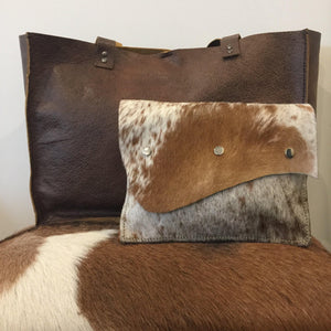Cow hide leather cross body bag and clutch - Houseofsamdesigns