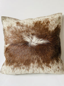 Cow hide leather cushion