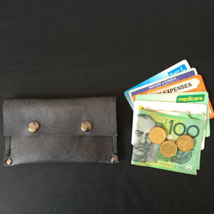 Leather slim wallet / purse