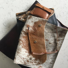 Load image into Gallery viewer, Cow hide leather cross body bag and clutch - Houseofsamdesigns