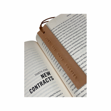 Load image into Gallery viewer, Leather Bookmark - JUST ONE MORE CHAPTER - Houseofsamdesigns