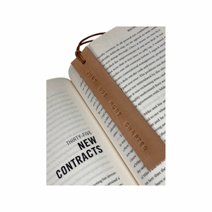 Leather Bookmark - JUST ONE MORE CHAPTER - Houseofsamdesigns