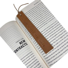 Load image into Gallery viewer, Leather Bookmark - READING BETWEEN THE WINES - Houseofsamdesigns