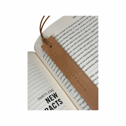 Leather Bookmark - TO BE CONTINUED - Houseofsamdesigns