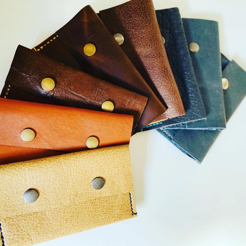 Leather slim wallet / purse - Houseofsamdesigns