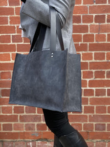 Distressed leather tote - Houseofsamdesigns