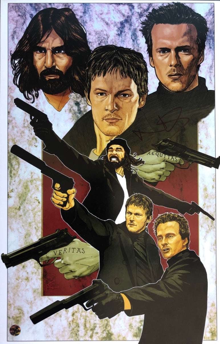 Norman Reedus Signed The Boondock Saints Poster