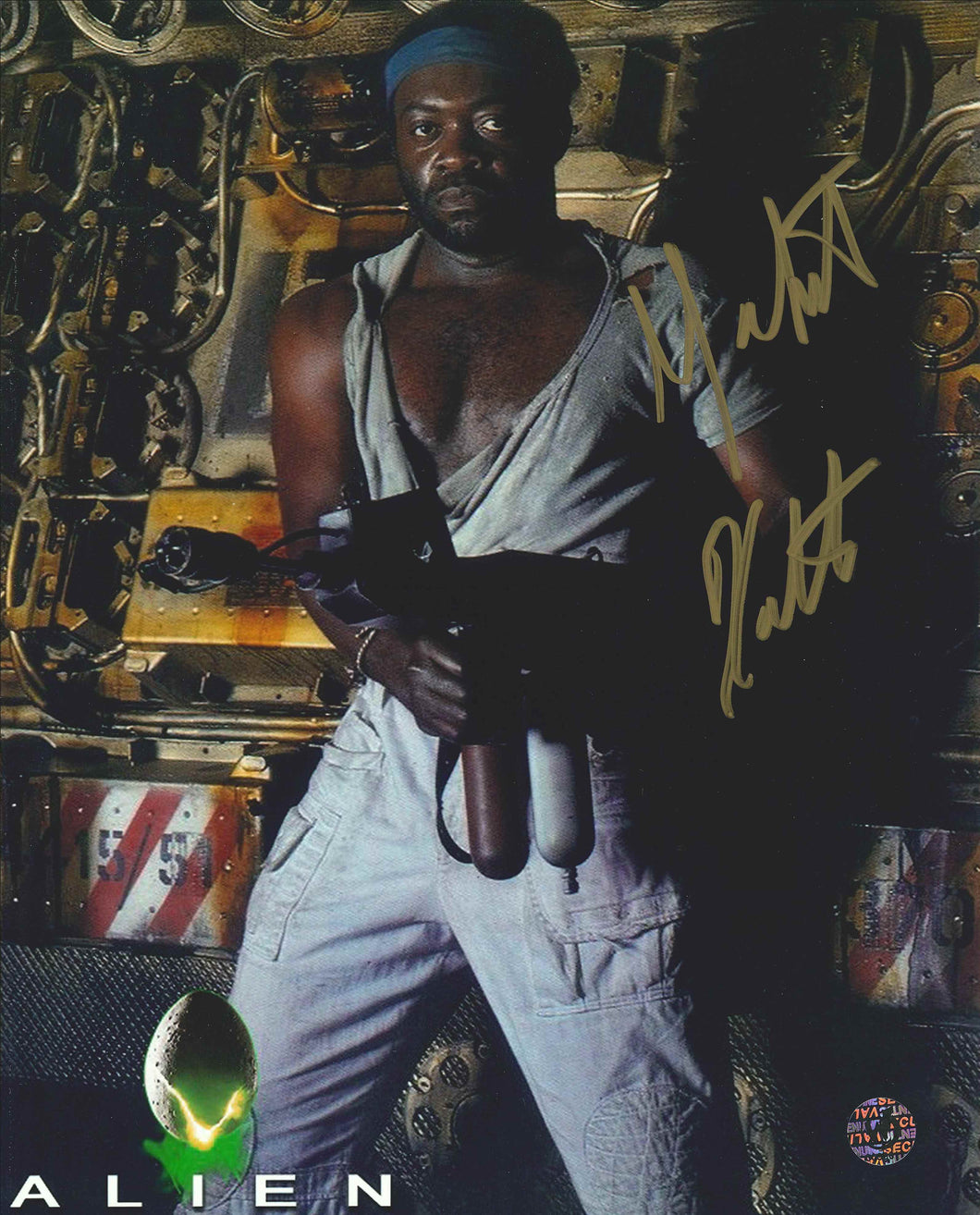 Yaphet Kotto Signed Alien Photo