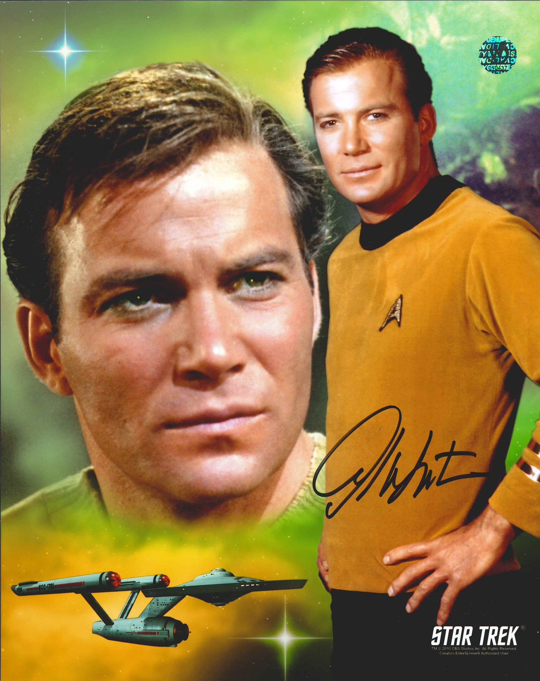 William Shatner Signed Star Trek Photo