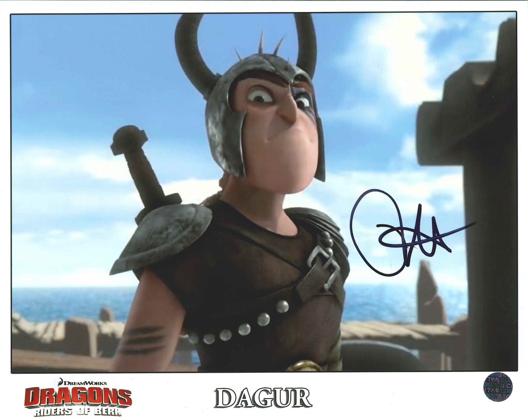 David Faustino Signed Dragons Photo