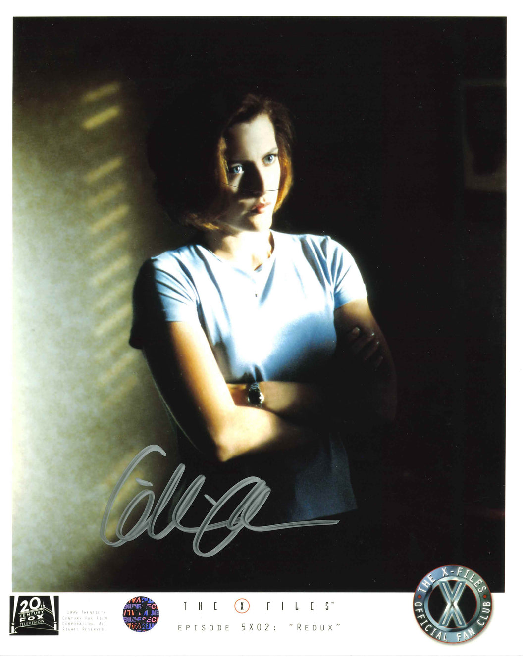 Gillian Anderson Signed The X-Files Photo