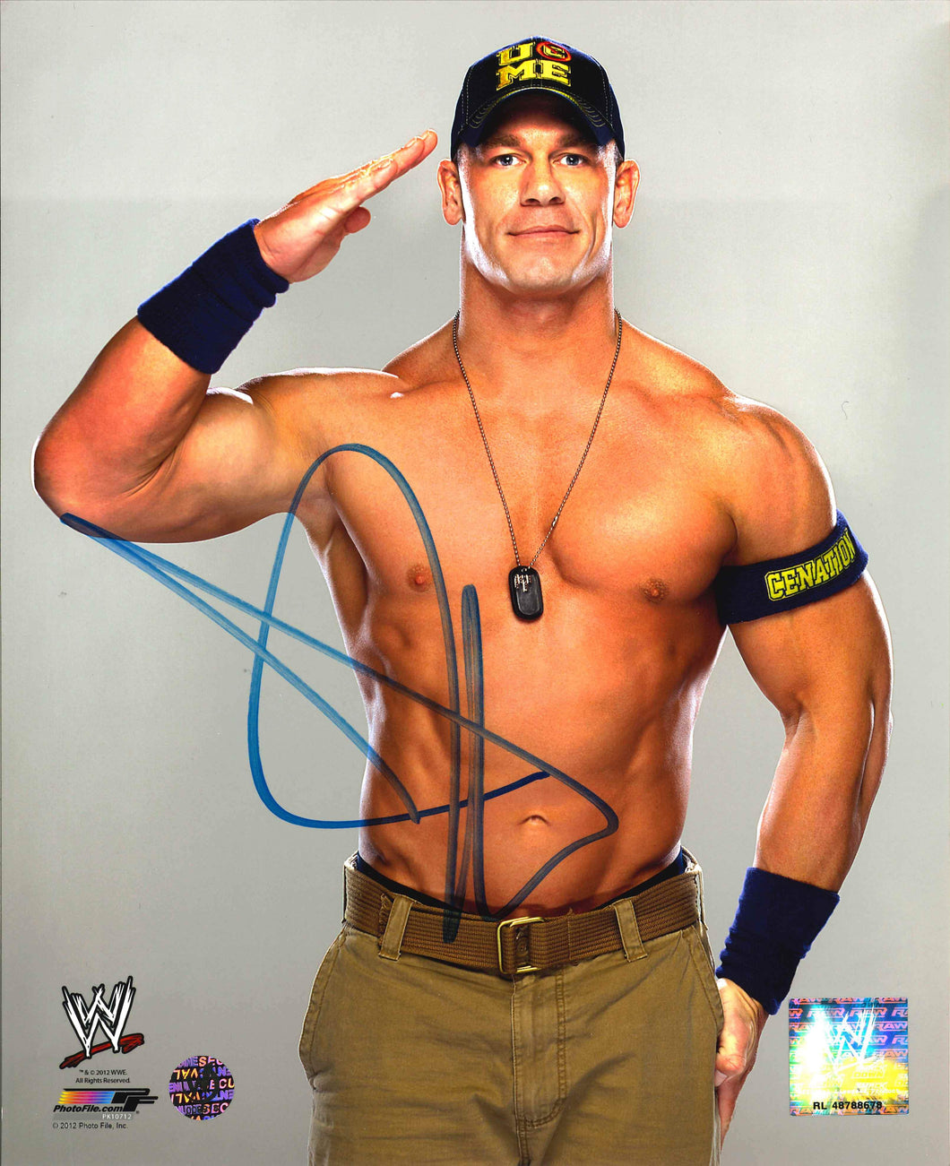 John Cena Signed WWE Photo