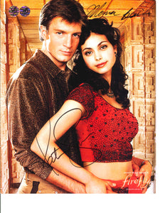 Nathan Fillion and Morena Baccarin Signed Firefly Photo