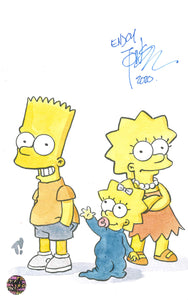 Tone Rodriguez Signed Sketch of The Simpsons