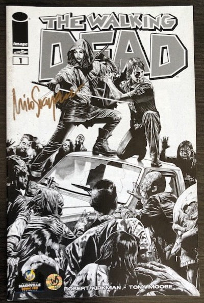 The Walking Dead #1 Wizard World Nashville Sketch Edition Signed by Mico Suayan