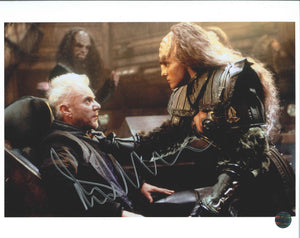 Malcolm McDowell Signed Star Trek Generations Photo