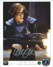 Load image into Gallery viewer, Gillian Anderson Signed The X-Files Photo