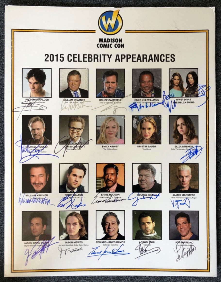 Signed Wizard World Madison 2015 Convention Poster