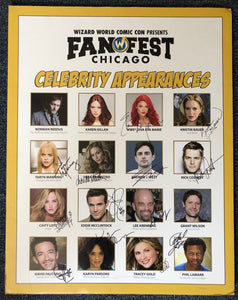 Signed Wizard World Chicago Fan Fest Convention Poster