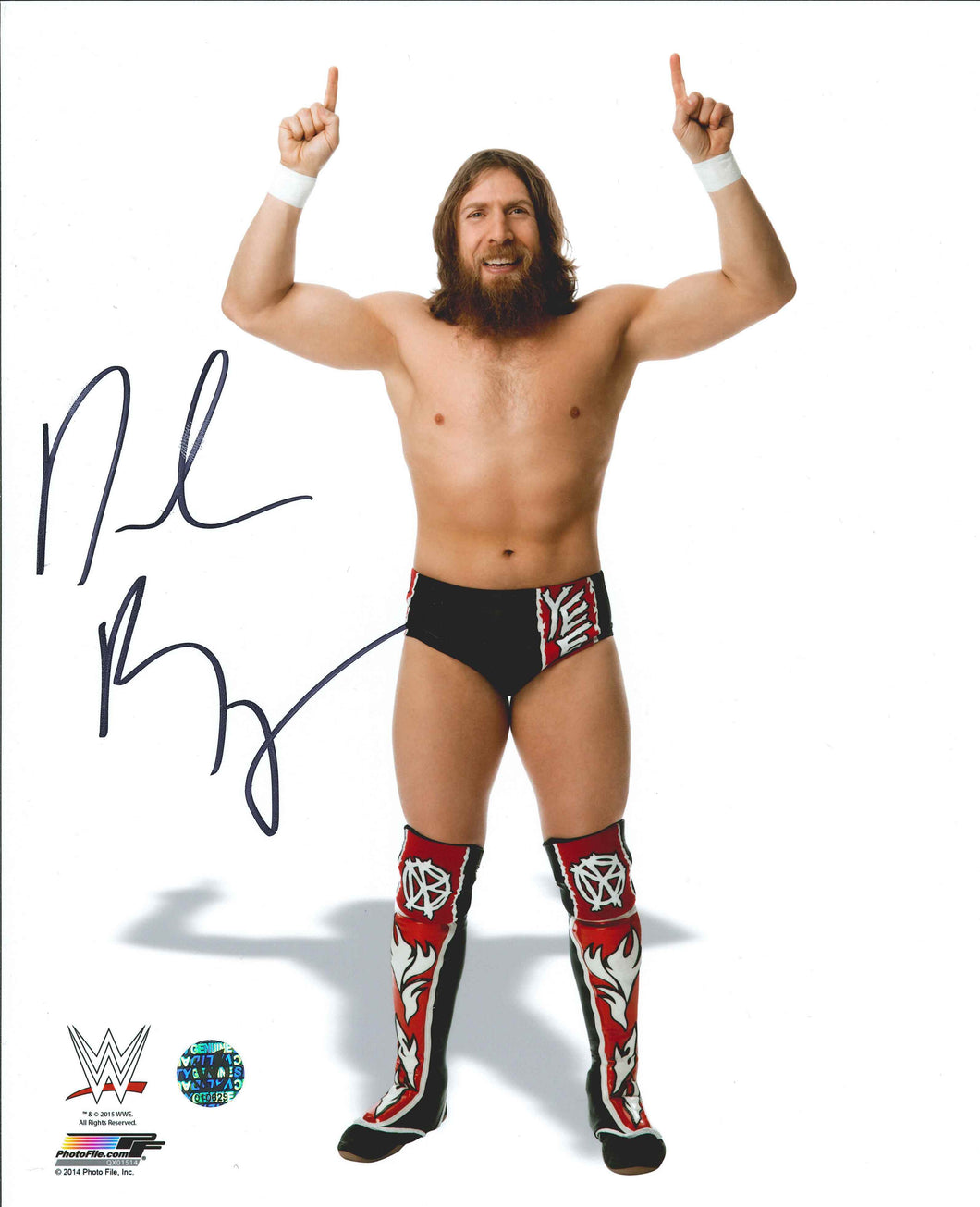 Daniel Bryan Signed WWE Photo
