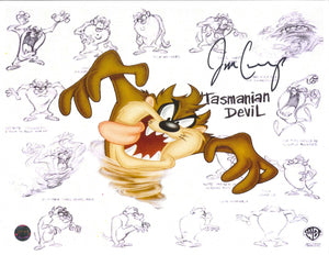 Jim Cummings Signed Tasmanian Devil Photo