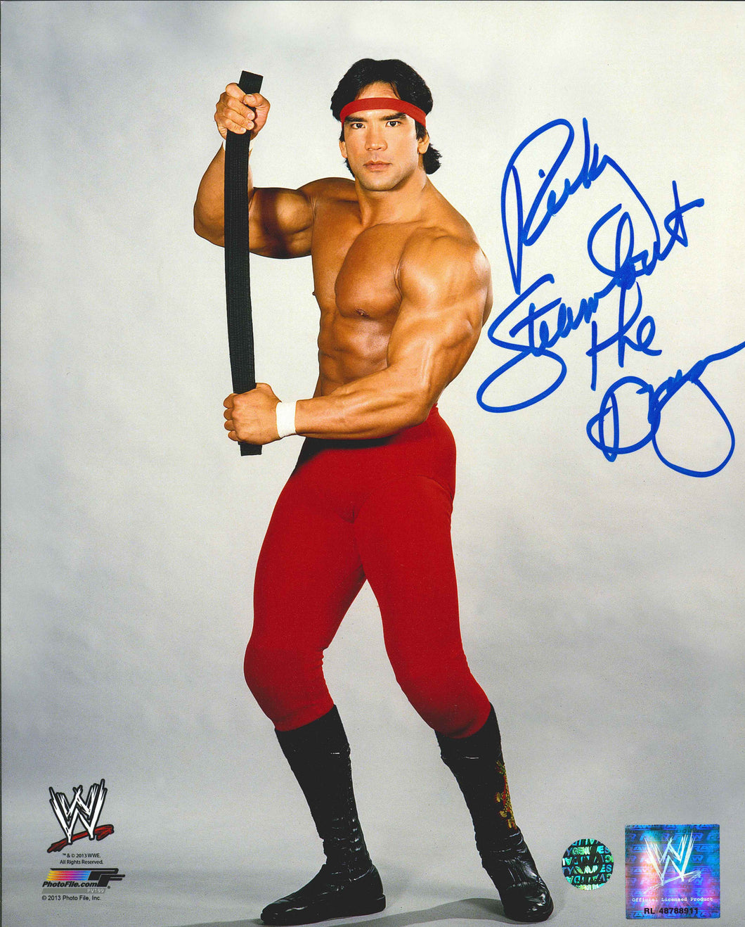 Ricky 'The Dragon' Steamboat Signed WWE Photo