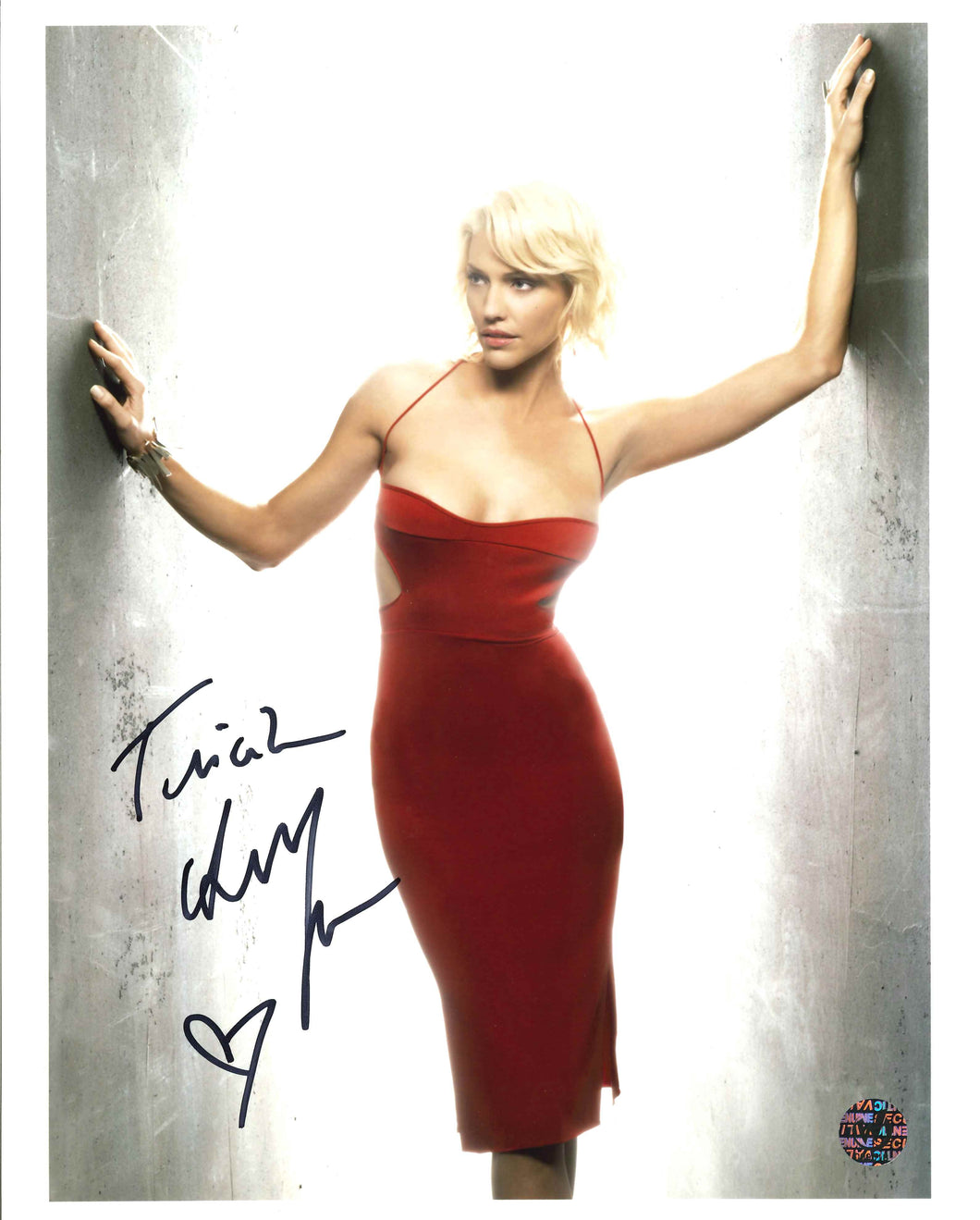 Tricia Helfer Signed Battlestar Galactica Photo