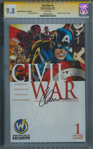 Civil War #1 CGC 9.8 Signed by Chris Evans
