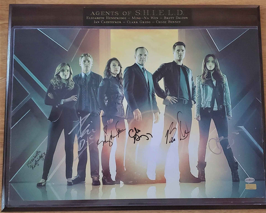 Agents Of S.H.I.E.L.D. Cast Signed Plaque