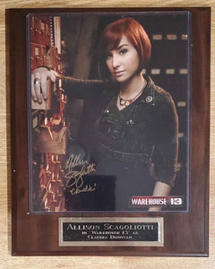 Allison Scagoliotti Signed Warehouse 13 Plaque