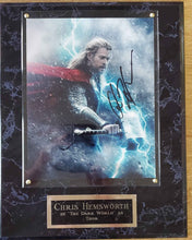 Load image into Gallery viewer, Chris Hemsworth Signed Thor Plaque