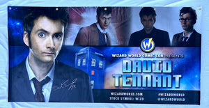 David Tennant Signed Wizard World Banner