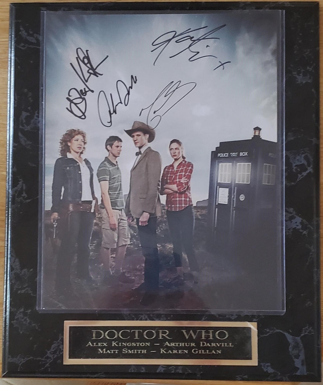 Doctor Who Cast Signed Plaque